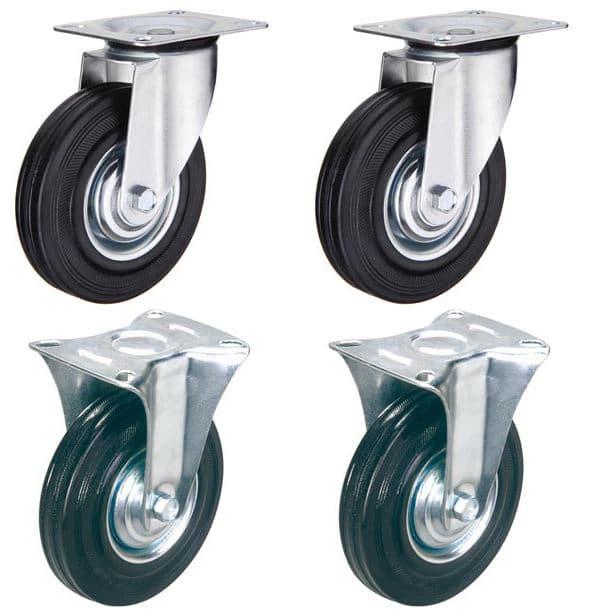 набор колес 2 поворотные 2 не поворотные