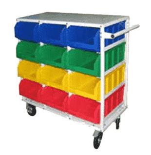 система хранения ящиков передвижная
