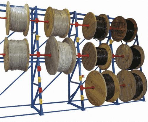 стеллаж для кабельных барабанов наклонный