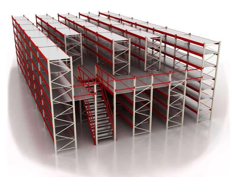 мезонин этажный стеллаж