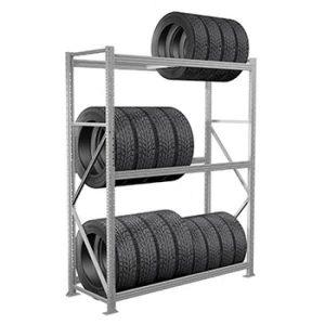 стеллаж для шин с наклонной балкой