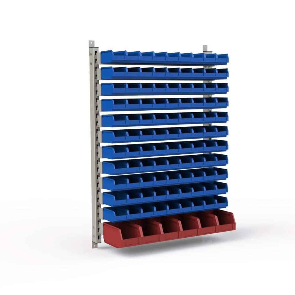 Настенный стеллаж для установки различного количества лотков (1370х950х63 мм)